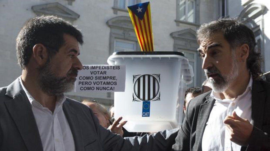 Jordi Sánchez y Jordi Cuixart