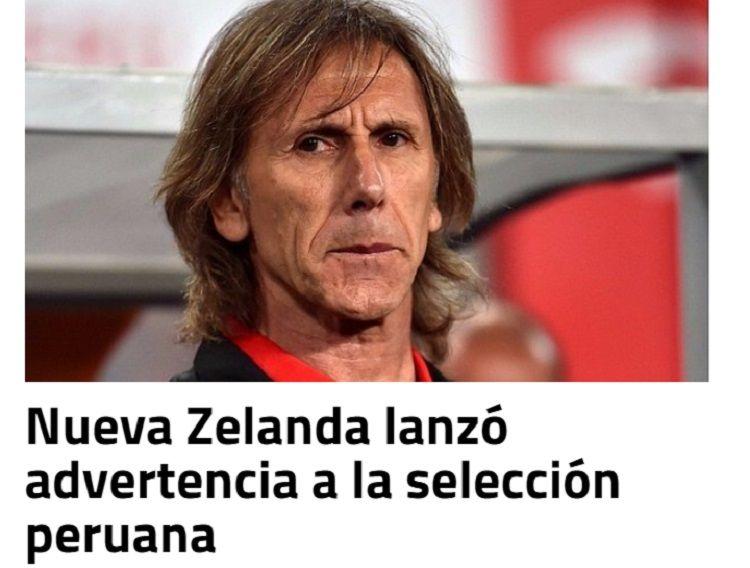 La intimidante amenaza que recibió la Selección de Perú antes de jugar el repechaje
