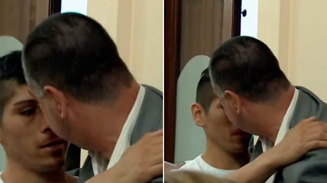 Néstor abrazó a Gabriel Otero