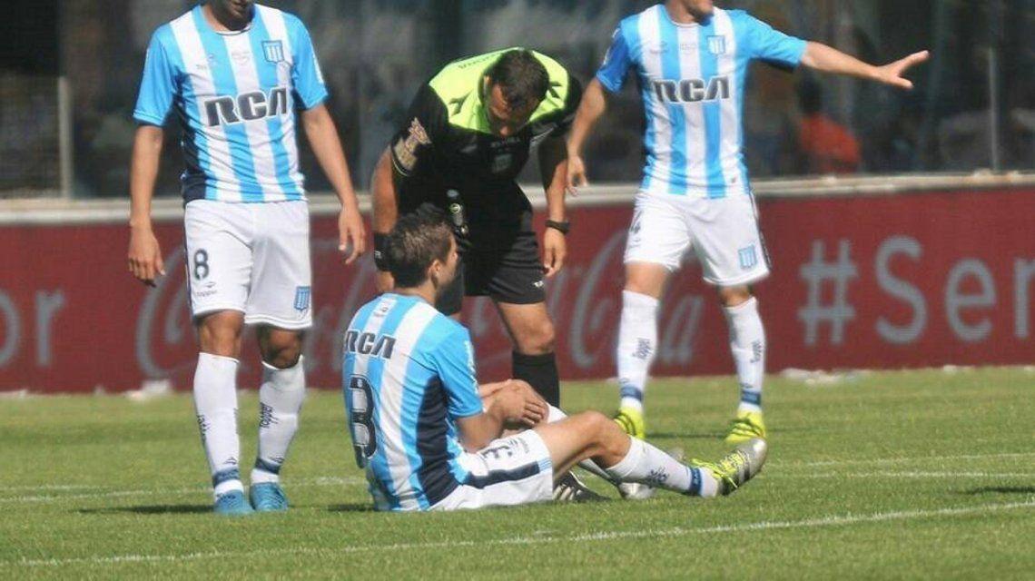 La mala suerte de Leandro Grimi: tuvo la misma lesión el mismo que el año pasado
