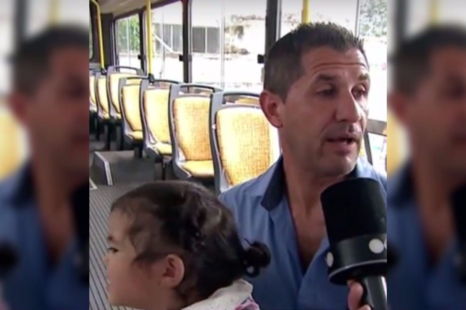 Héroe al volante: un colectivero le salvó la vida a una beba