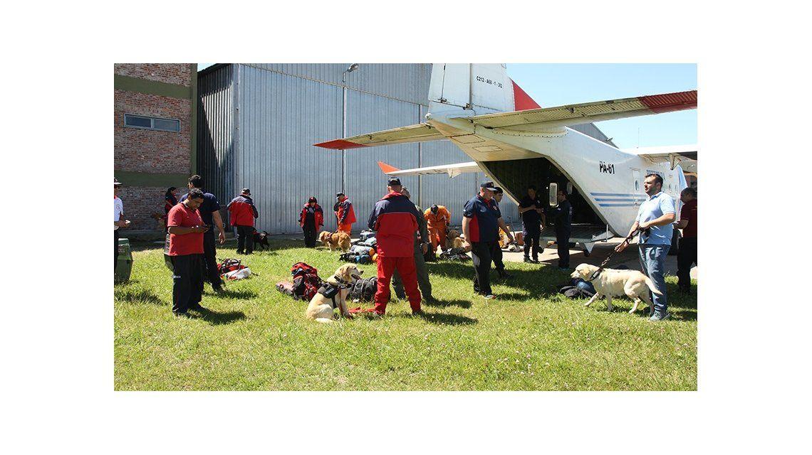 Brigada de perros rastreadores de cadáveres del Consejo Nacional de Bomberos Voluntarios