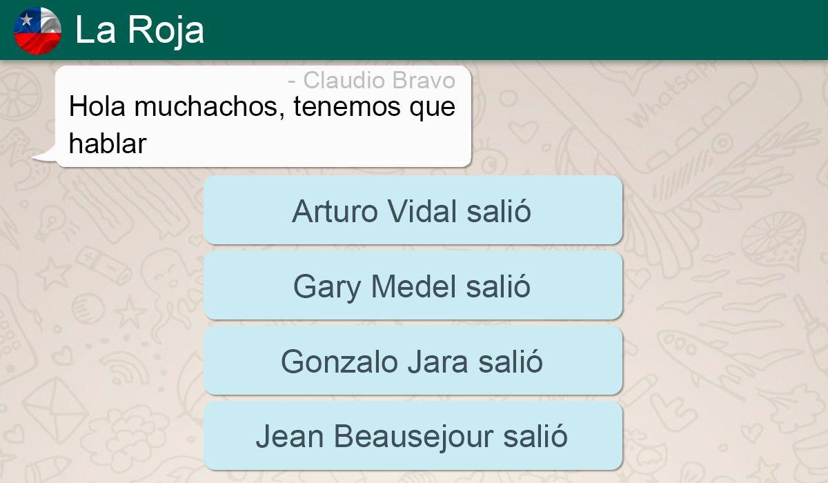 La Roja sin sapos, el grupo de WhatsApp en el que dejaron afuera a Claudio Bravo