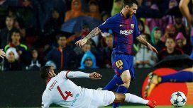 Con un gol de Messi de tiro libre