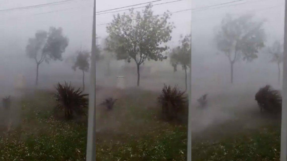 El granizo azotó algunas localidades bonaerenses