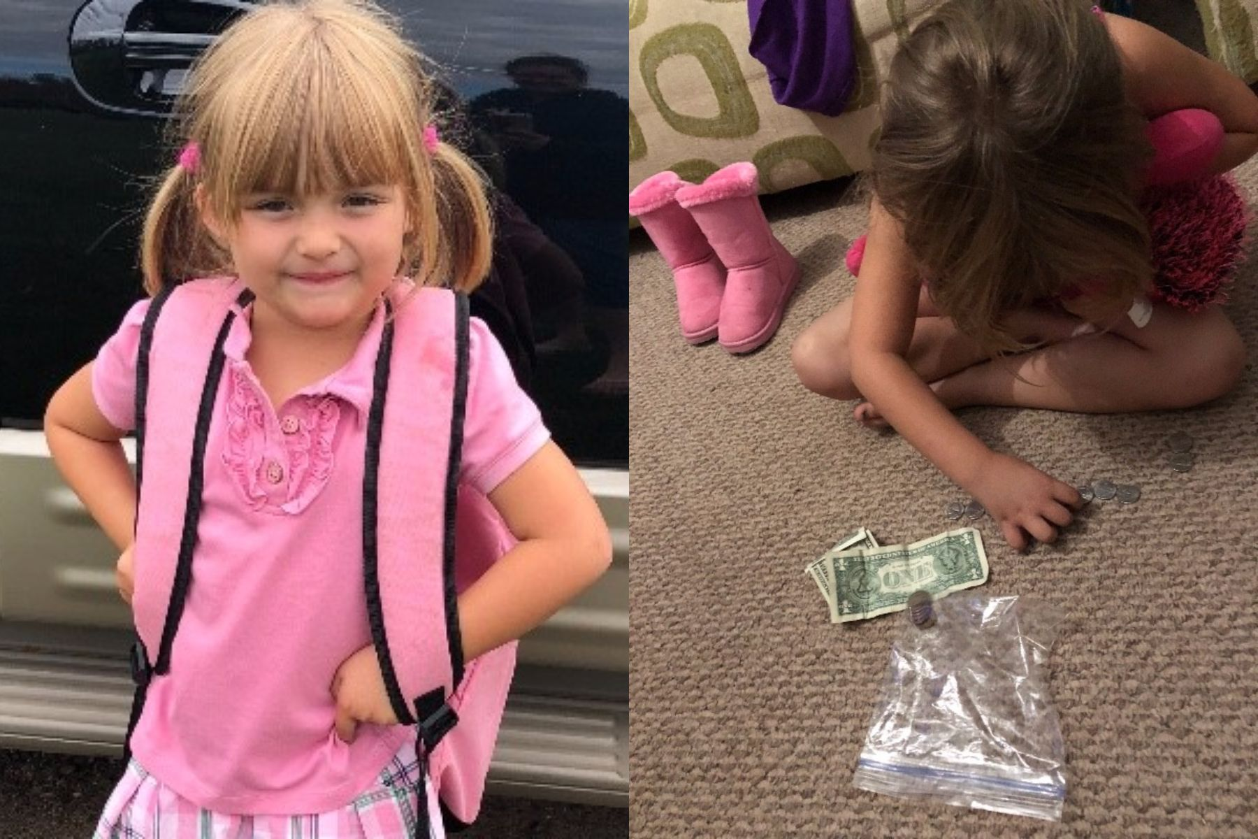 Una nena gastó sus ahorros para que sus amigos puedan tomar leche