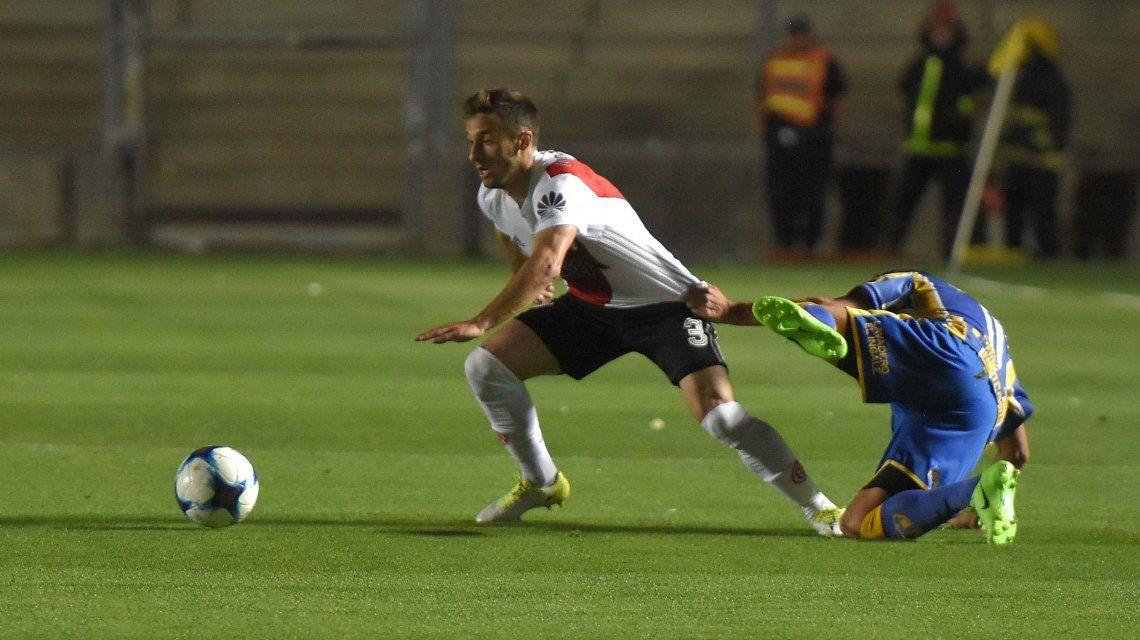 El uruguayo Saracchi abrió el marcador con un fuerte zurdazo