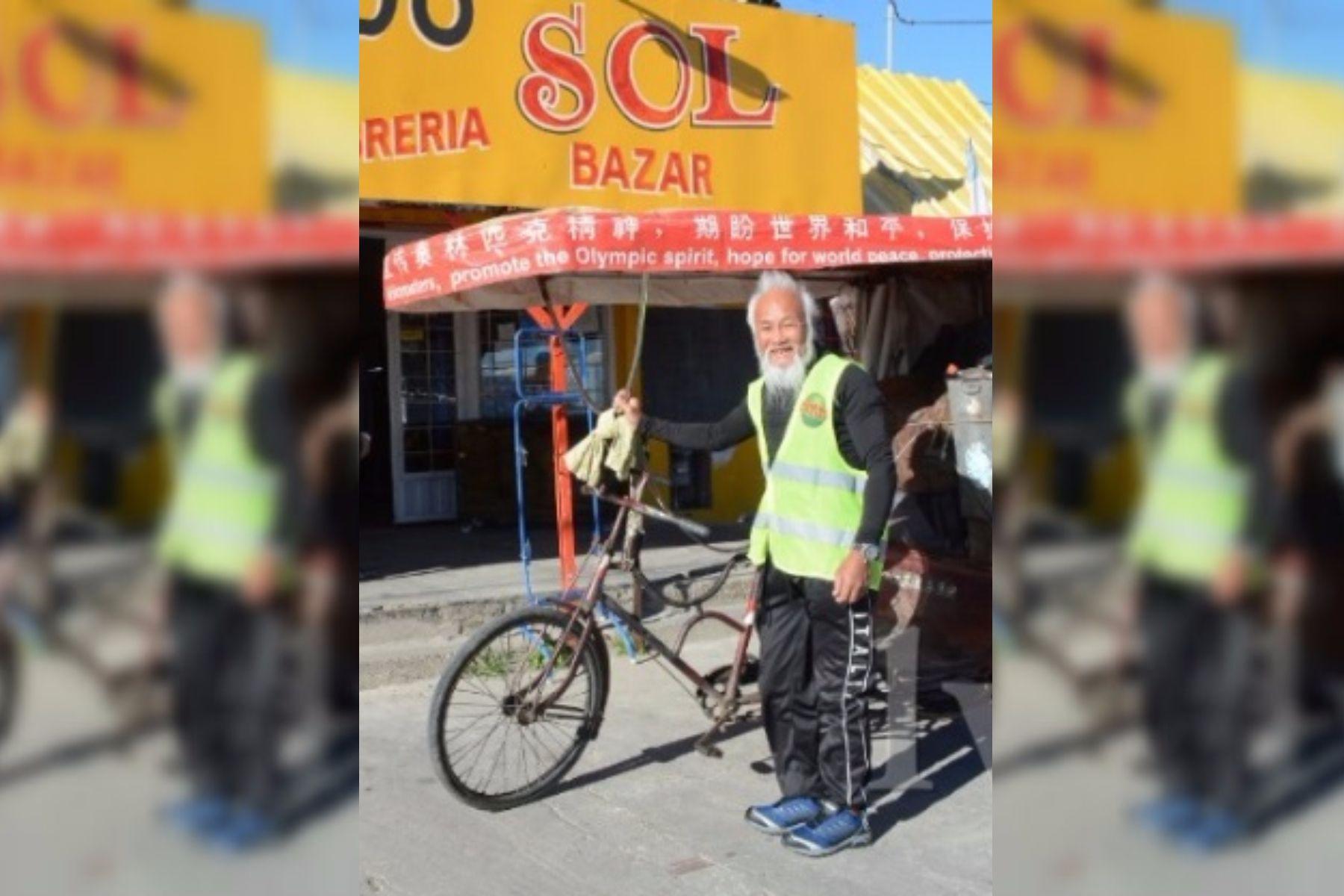 Recorría el mundo con su triciclo y murió arrollado por un camión en una ruta santacruceña