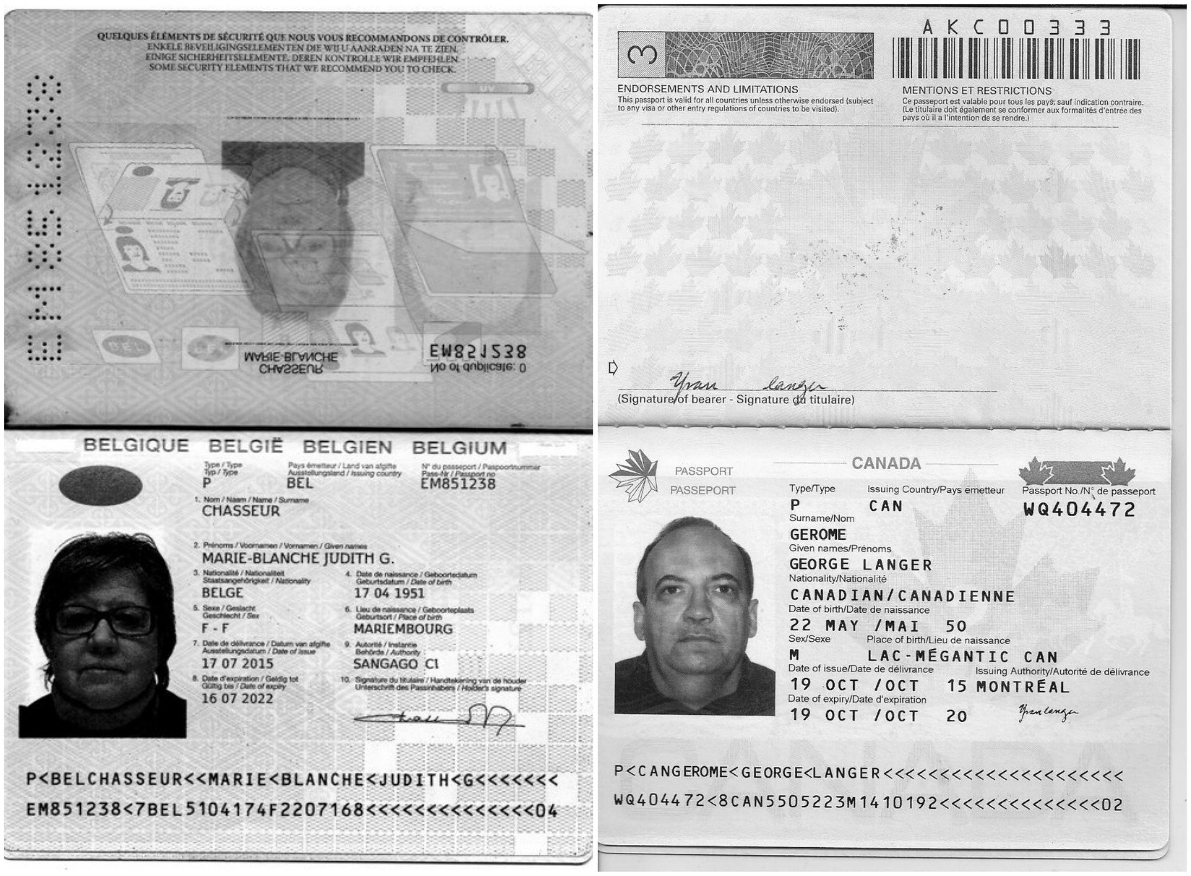 Estos son los pasaportes que publicó la tuitera