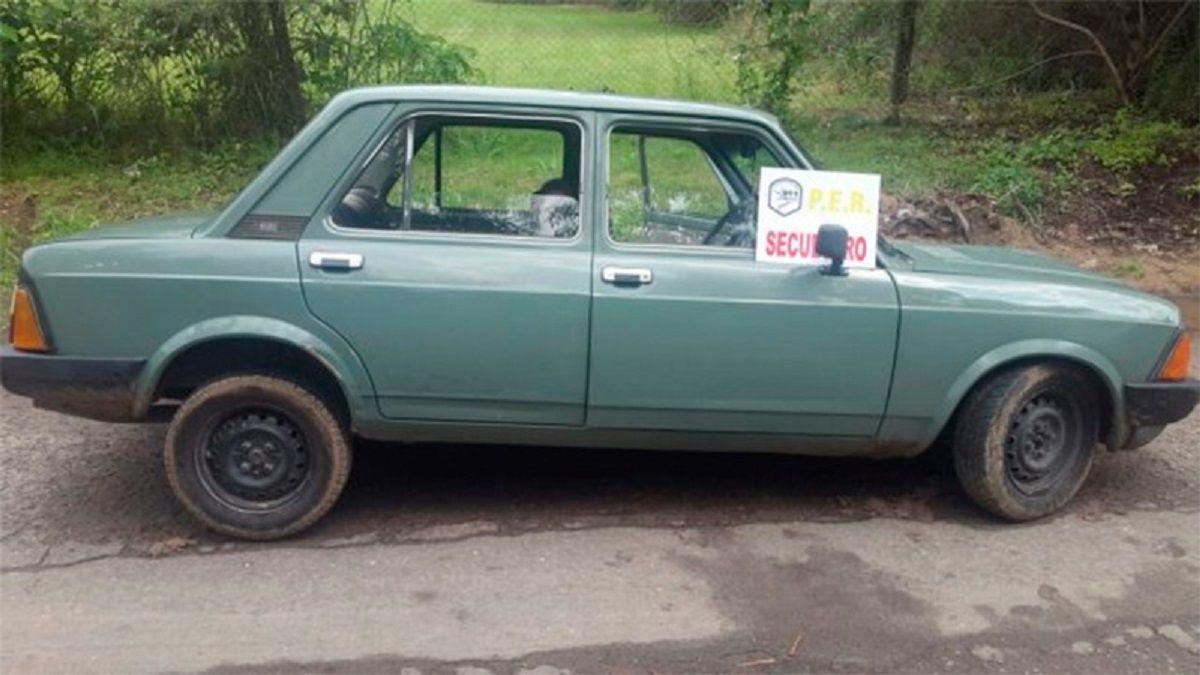 Fiat 128 secuestrado por la Policía de Entre Ríos