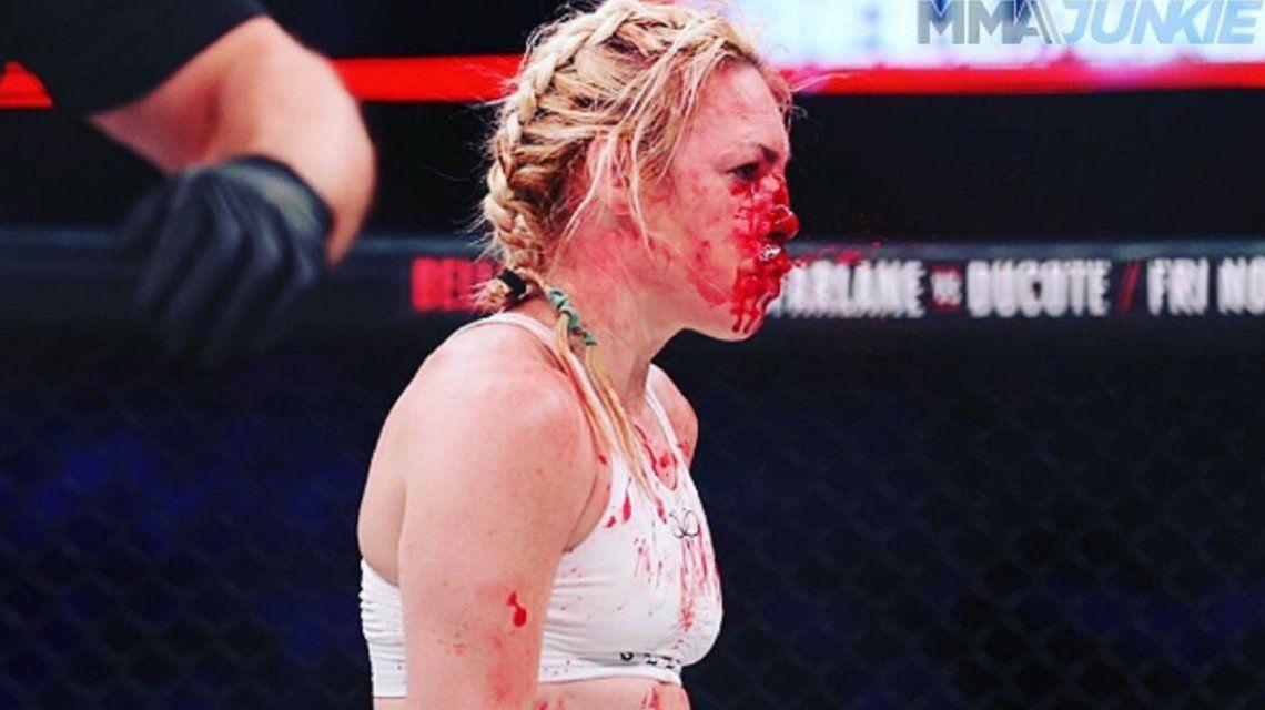 Pararon una pelea de MMA por una paliza - Crédito: Instagramheathertheheat