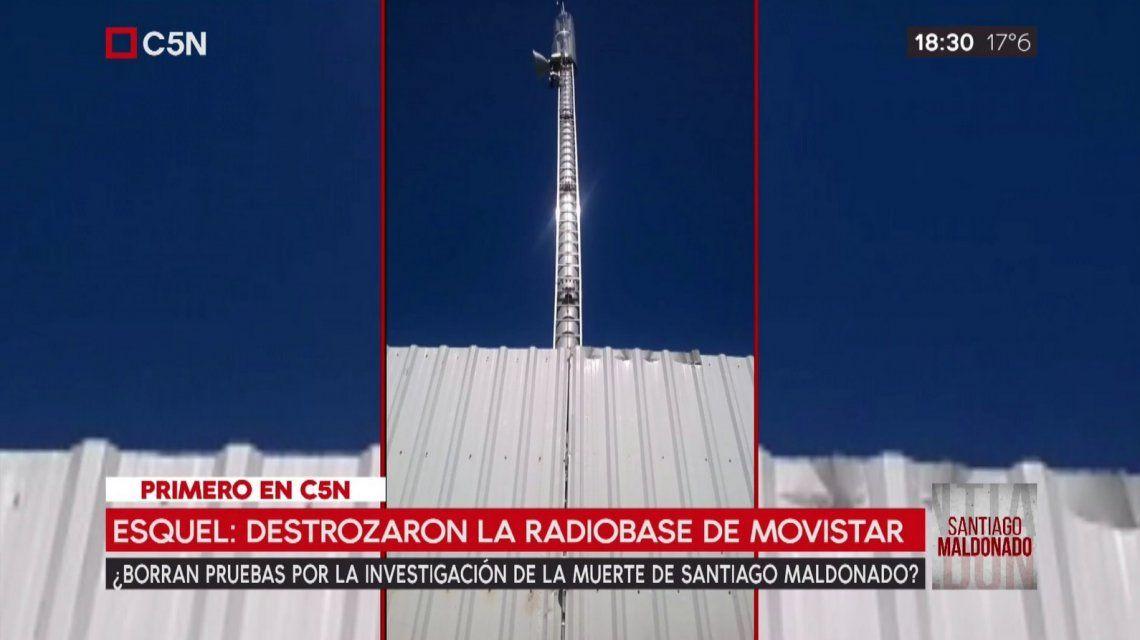 Caso Maldonado: violaron la radiobase de Esquel que registró los celulares