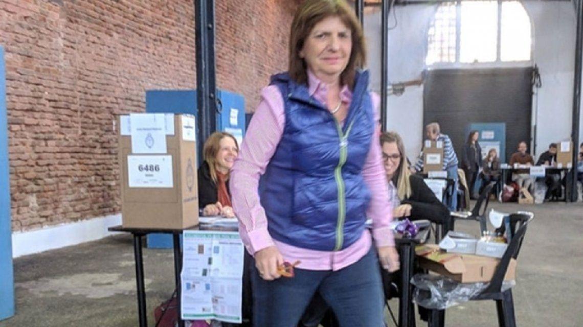 Patricia Bullrich evitó el contacto con la prensa