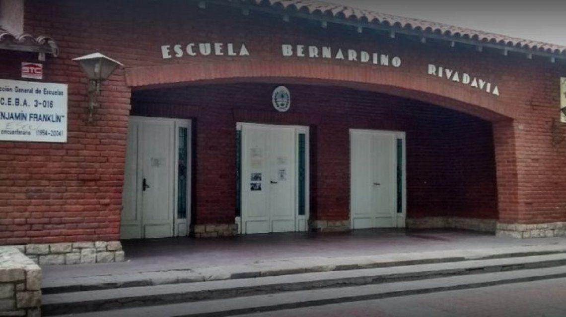 Habría ocurrió en la escuela Bernardino Rivadavia