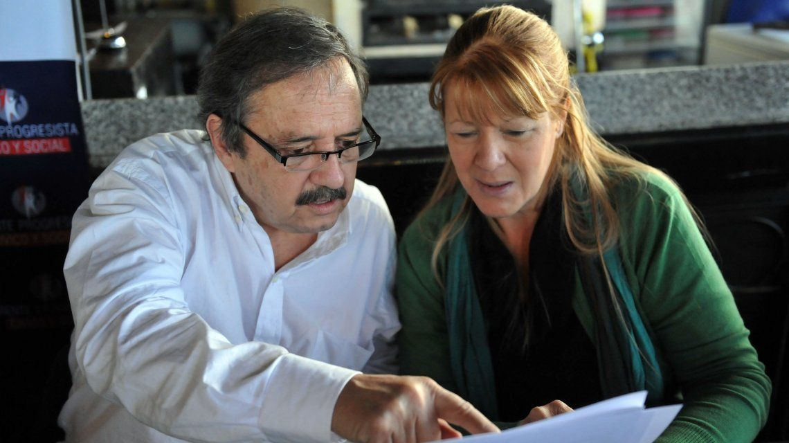 Ricardo Alfonsín y Margarita Stolbizer