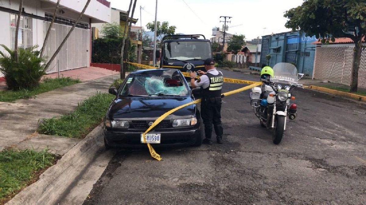 Así quedó el auto que arrolló a David Yañez Pacheco