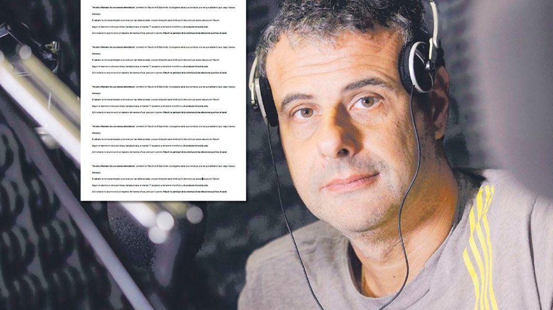 Tras la denuncia por acoso sexual, la carta de Ari Paluch a las autoridades de América