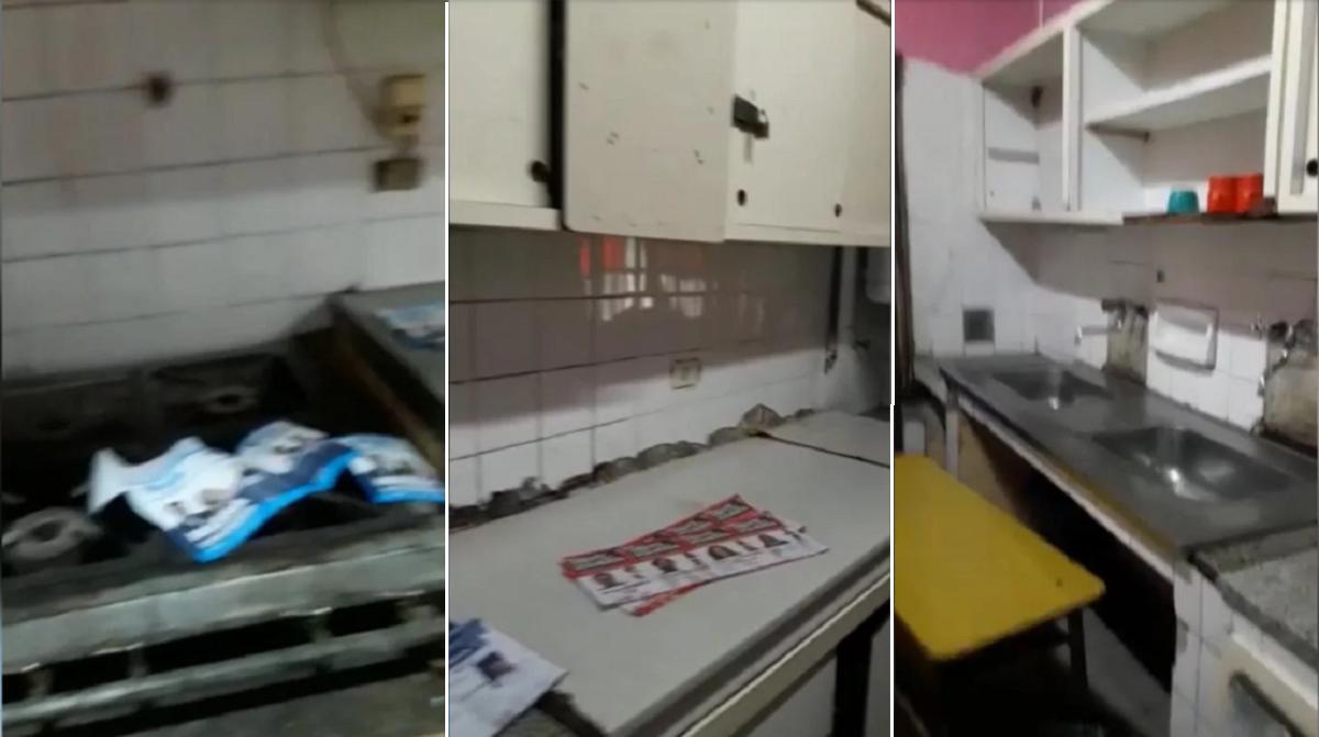 El cuarto oscuro más peligroso: votaron en la cocina, con boletas sobre las hornallas