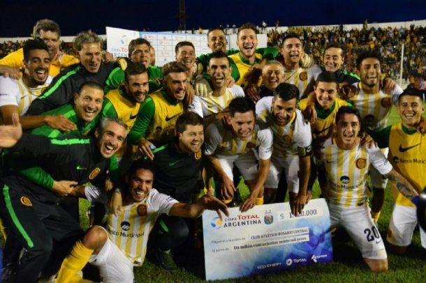 El festejo de Rosario Central tras acceder a una nueva semifinal de Copa Argentina<br>