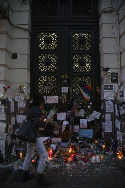 Santuario en la Morgue Judicial por Santiago Maldonado<br>