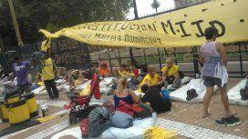 Protesta del MIJD de Raúl Castells en Plaza de Mayo