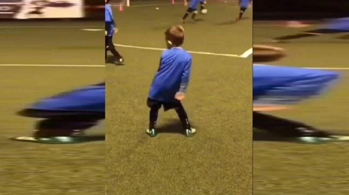 VIDEO: El hijo del Papu Gómez hizo un gol y lo festejó con el Papu Dance