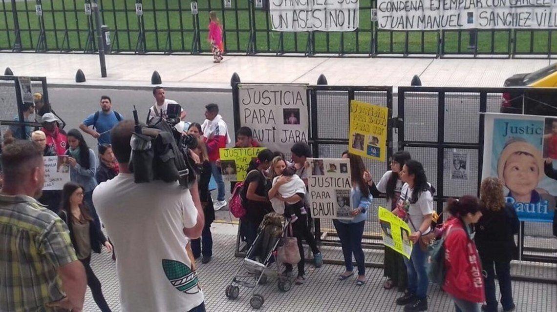 La familia de Bautista Jara exigió prisión efectiva para el responsable de la tragedia. Foto Twitter