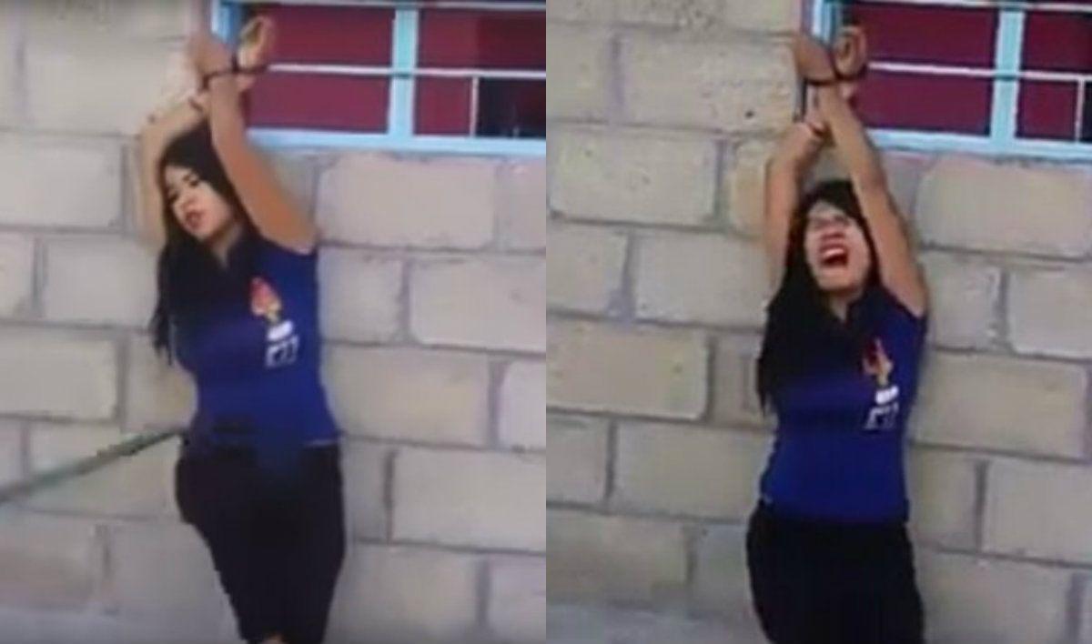 La víctima fue identificada como Érica en el video