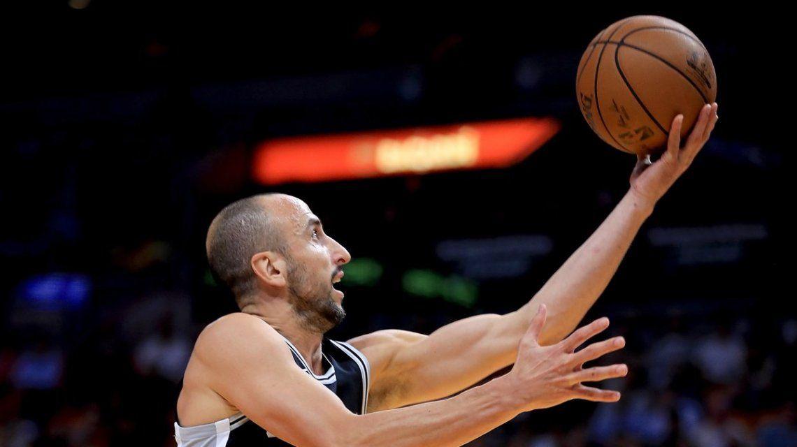 Otra buena actuación de Manu para el triunfo de San Antonio Spurs