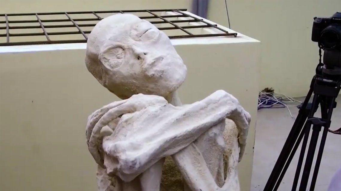 Una de las momias halladas en Nazca