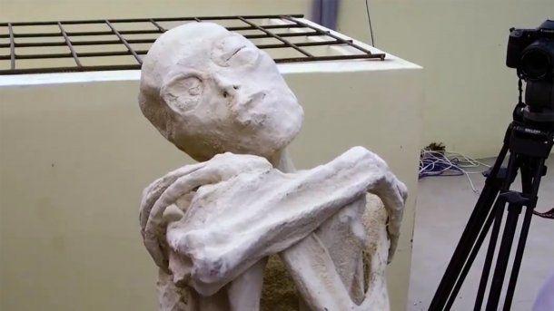 Una de las momias halladas en Nazca<br>
