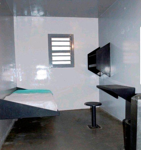 Esta sería la celda en la que habría pasado su primera noche el ex ministro de Planificación Federal