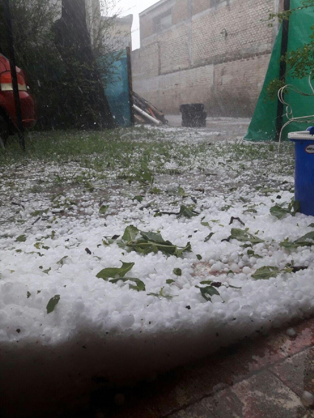 Impresionante tormenta de granizo en el sudoeste de Córdoba