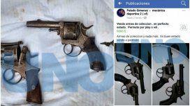 Las armas que ofrecían y el posteo de Facebook