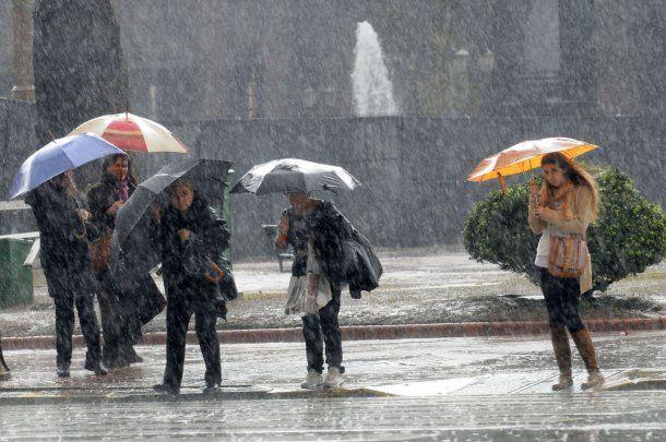 Fuerte tormenta en la Ciudad de Buenos Aires<br>