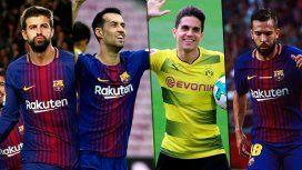 Piqué, Busquets, Bartra y Alba, figuras catalanas