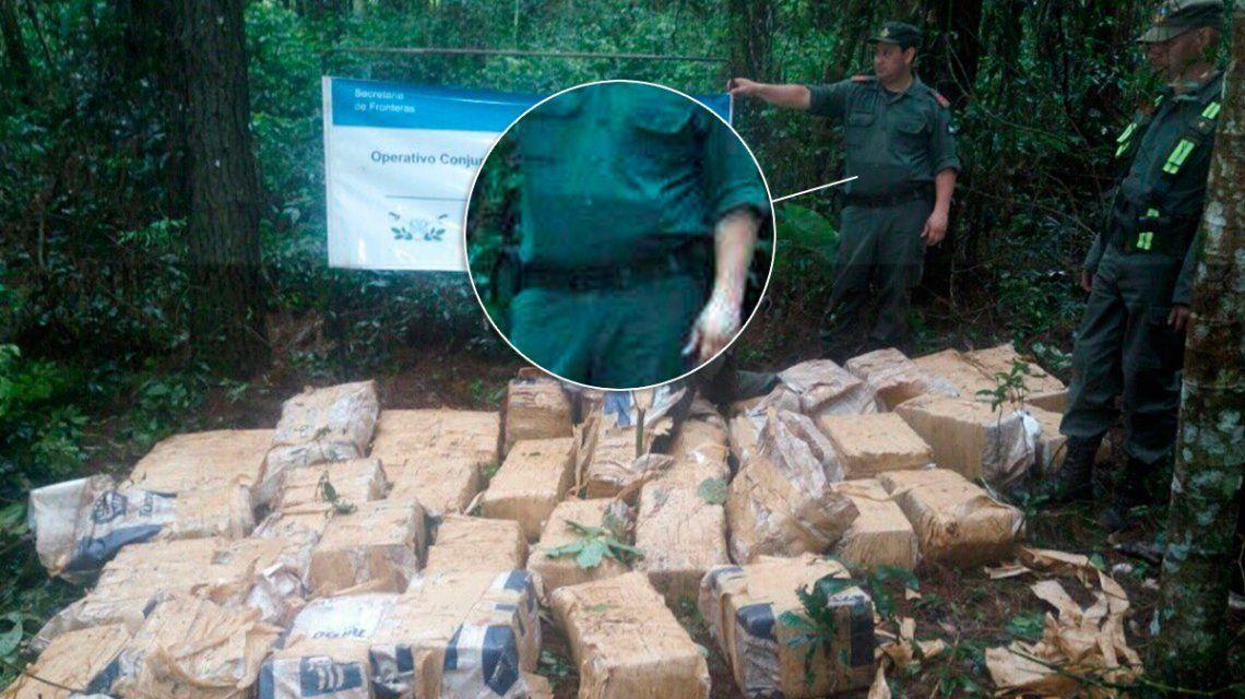 La foto de un operativo antidrogas que se viralizó por el bulto de un gendarme