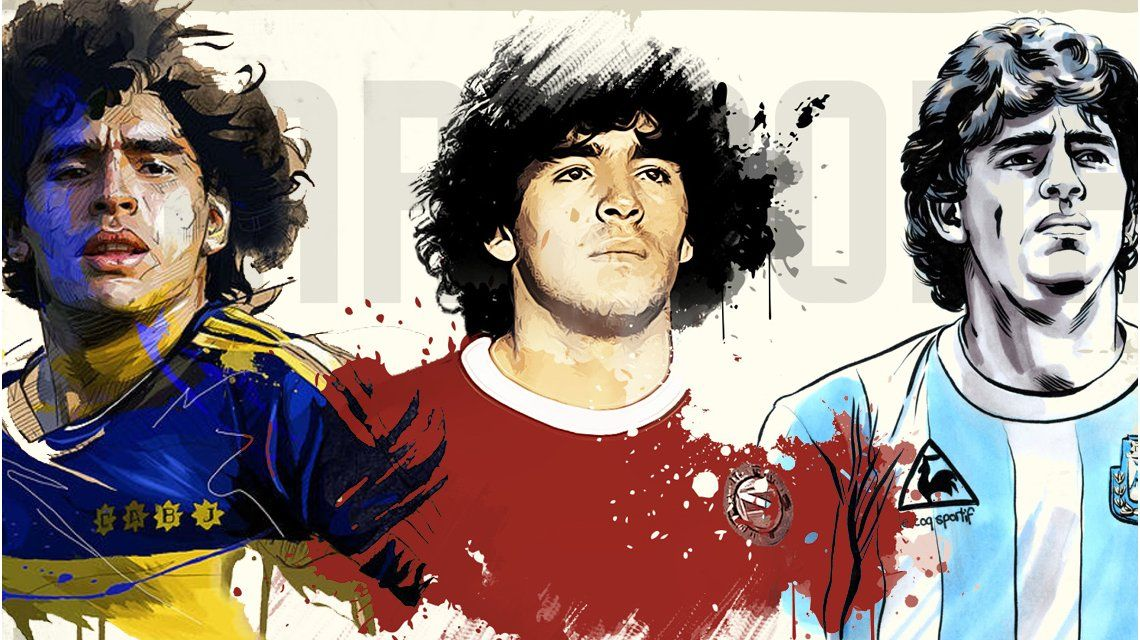 VIDEO: Los 57 años de Diego Armando Maradona en 57 caras
