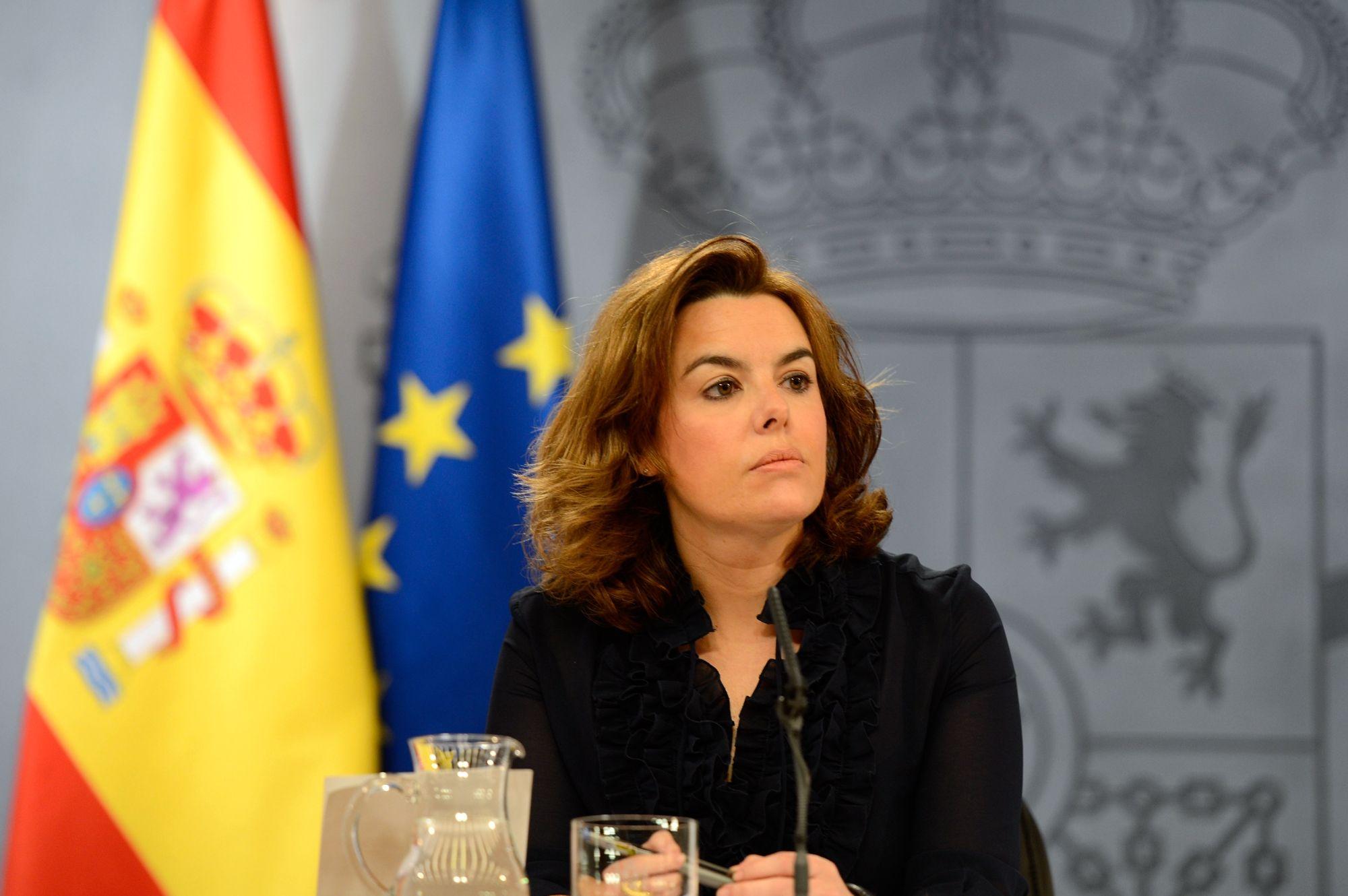 Soraya Sáenz de Santamaría asumió la presidencia de Cataluña