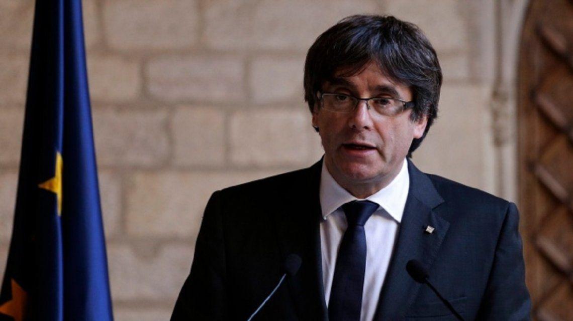 Puigdemont llamó a defender la independencia de Cataluña