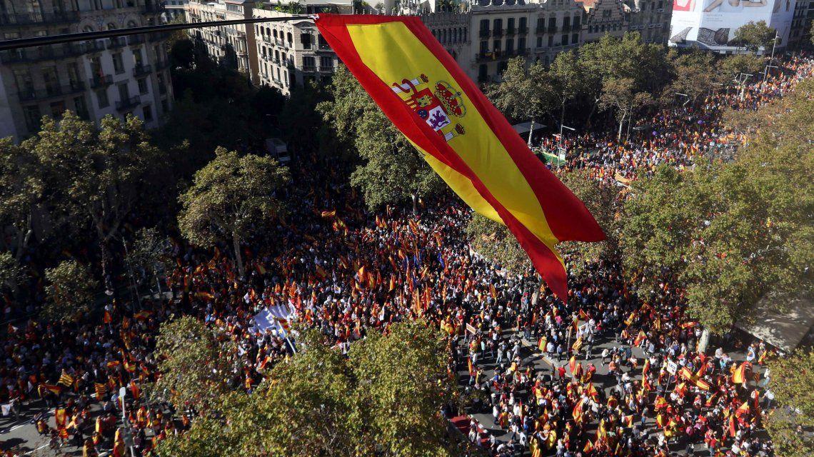 Barcelona: multitudinaria marcha por la unidad de España