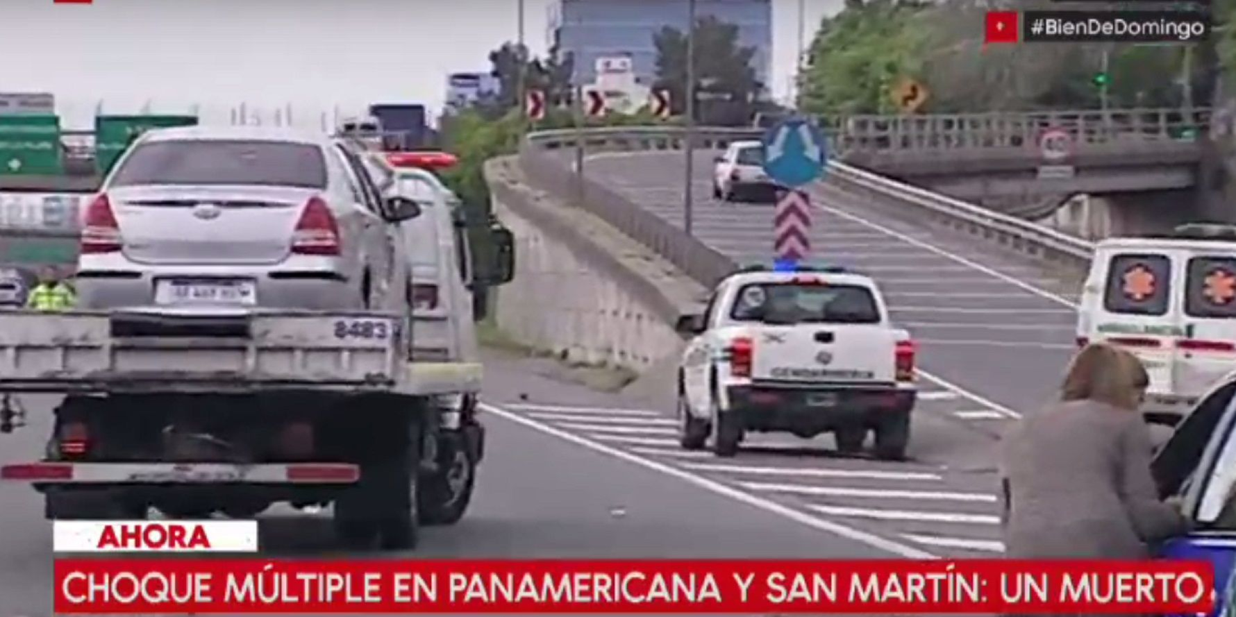 Choque múltiple entre varios autos y una moto en Panamericana: un muerto