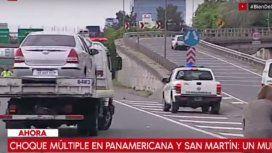 Choque múltiple en la Panamericana: un muerto