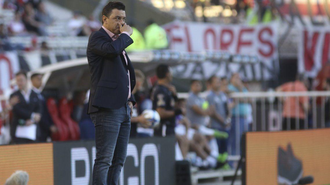 Marcelo Gallardo preocupado a una semana del Superclásico