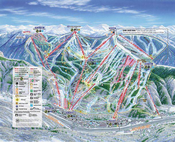 Vail Ski Resort y sus pistas<br>