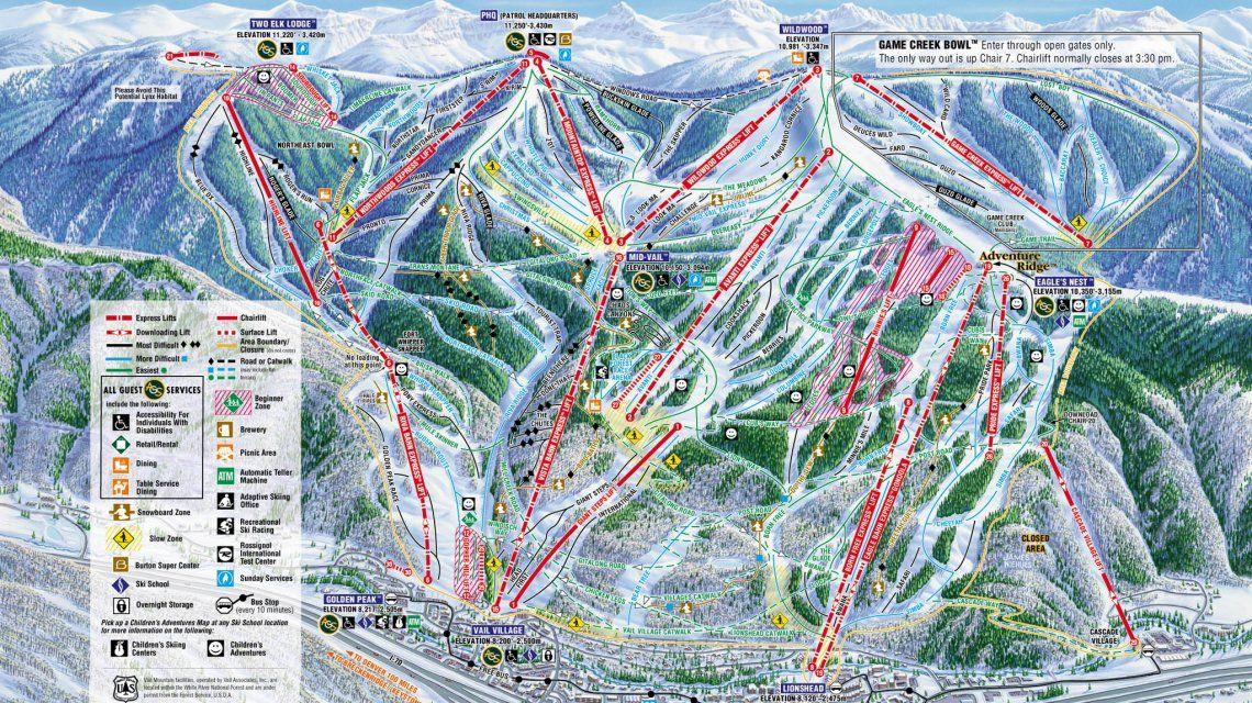 Vail Ski Resort y sus pistas