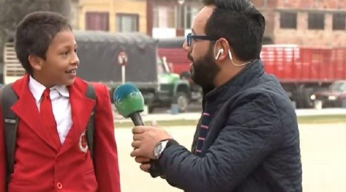 VIDEO: Dejó una entrevista de TV en vivo para no llegar tarde al la escuela