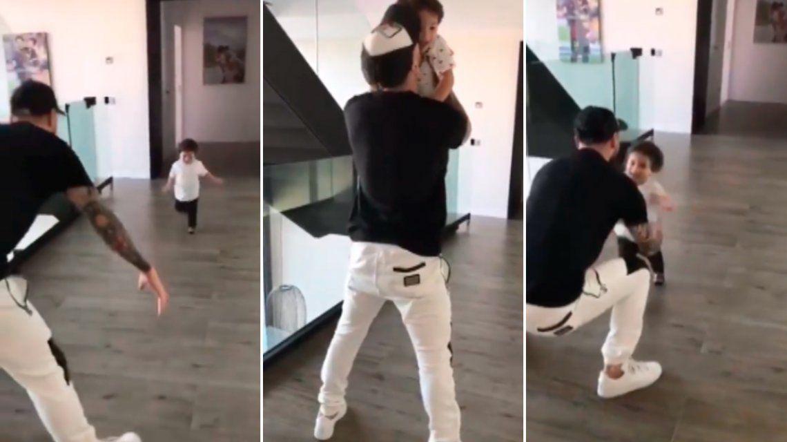 El video más tierno de Messi y su hijo Mateo
