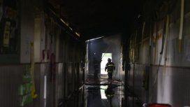 El incendio se registró en la mañana del domingo, alrededor de las 9