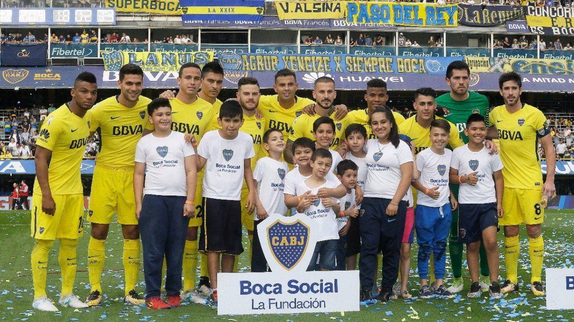 Solidaridad en Boca: antes de la goleada, una buena causa